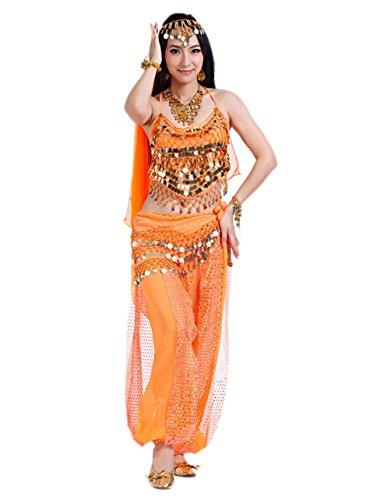 Kostüme Frauen 2 Halloween (Halloween Kostüm Damen Indische Tanzkostüm Faschings-Kostüm Erwachsene)