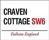 Panneau métallique Craven Cottage Fulham London (og 4030)