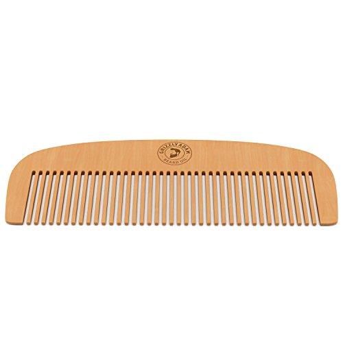 Grizzly Adam Peigne pour cheveux et barbe – Bois antistatique pour peigner barbe, moustache et cheveux sans accrocs, avec un design de haute qualité - Livré dans une boîte cadeau