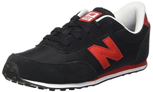 New Balance Unisex-Kinder 410 Sneakers Mehrfarbig (Black/red)