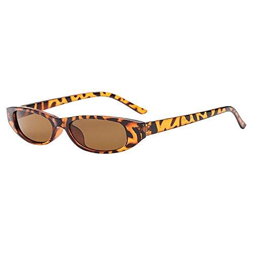 Honestyi Retro Vintage Clout Cat Unisex Sonnenbrille Rapper Oval Shades Grunge Brille Ovale Brillenbrille mit Cat Eye Sonnenbrille 02