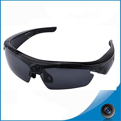 SEXTT Digitale Brille Sportkamerarecorder HD 1080P120 ° Weitwinkel Bergsteigen Radfahren Sportbrille,Black