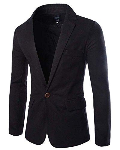Slim fit giacca uomo - elegante blazer - vestito di affari giacca outwear nero xl
