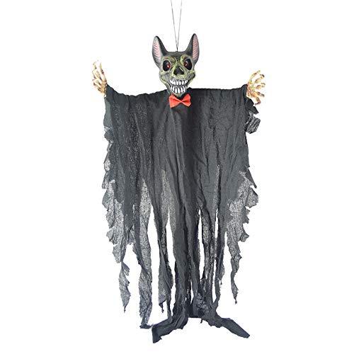 JIBO Vampire Bat Colgando Fantasma Halloween Props Suministros Barra Casa Embrujada Decoración Props Terror Fantasma,Gray
