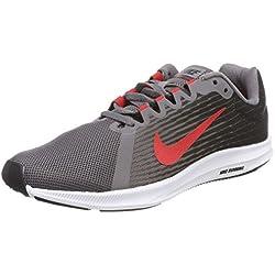Nike Downshifter 8, Scarpe da Running Uomo, Grigio (Anthracite/Speed Red/Gunsmoke/), 38.5 EU