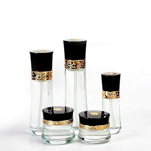 Cosmétique vide bouteille séparé bouteille verre bouteille ensemble
