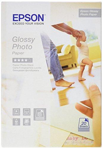 Epson Glossy Photo Paper - Papel fotográfico (10 x 15 cm), 20...