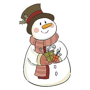 Vintage Snowman Double Sided Window Cling Sticker