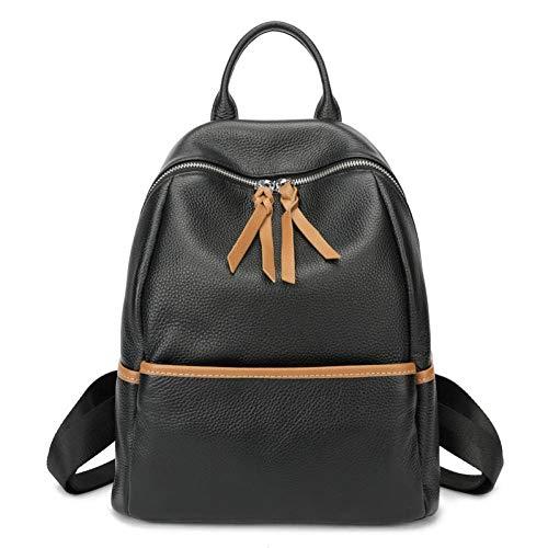 Weiches Italienisches Rindsleder (SJGBB Backpack Silber Farbe Hardware weiche natürliche italienische echte Rindsleder Schulter Frauen Rucksack weibliche Damen echte Rindsleder Tasche)