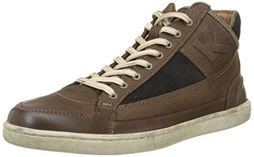 Kickers Pharacus, Sneakers Hautes Hommes, Marron (Marron Foncé Marine), 44 EU