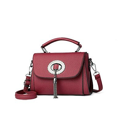 Damenmode PU Leder Schulter Messenger Crossbody Mini/Tasche Handtasche Tote Gray