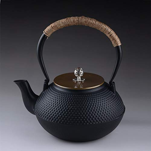ROKTONG Authentic Japanese Cast Iron Teapot Set Tea Pot Tetsubin Kettle Drinkware 900ml Kung Fu Infusers Metal Net Filter Cooking Tools Tetsubin Cast Iron