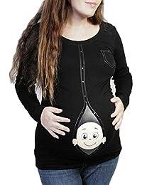 SamMoSon Blusa Ropa Premamá Invierno Vaqueros Jersey Fotos Talla Grande Vestido Mujeres De Moda Los Embarazos Casuales De Manga Larga Fuera del Hombro Maternidad Vestido De Maternidad
