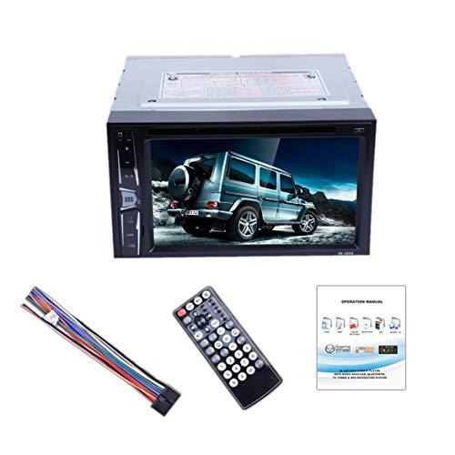 """6.2""""2 Din Car MP5 Player Haute Définition écran Tactile Numérique Autoradio Lecteur DVD Universel Support Caméra De Vue Arrière (Gris & Noir)"""