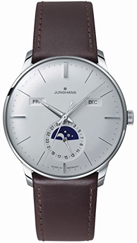 Junghans Meister Calendar 027/4200.01 40.4mm Automatic Stainless Steel Case Brown Calfskin Glass Men's Watch