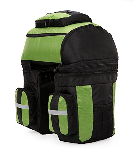 super-bab 70L Expedition Mountain Bike Pack nach das Regal Paket Multifunktions Fahrrad Schwanz Tasche für Mountain Bike Taschen Grün