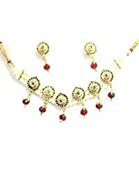 WMC JEWELS White Pearls Choker Necklace Set For Women And Girls