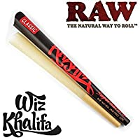Wiz Khalifa ''Supernatural'' Pre Rolled Raw Natural Unrefined Rolling Paper 12 Long Cone (New Product From Raw) - 1 Cone by Trendz