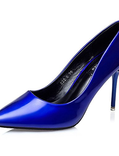 WSS 2016 Chaussures Femme-Décontracté-Bleu / Rouge / Argent / Or-Gros Talon-Talons-Talons-Laine synthétique silver-us6.5-7 / eu37 / uk4.5-5 / cn37