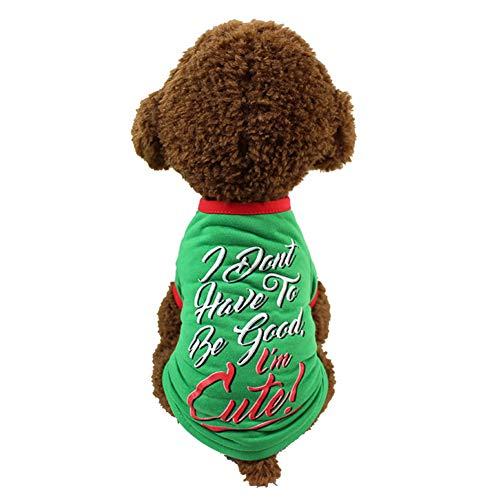 BIGBOBA Hunde Weihnachten Kostüme Pet Hund Kleidung Niedlich Hundebekleidung Hundemantel T-Shirt Pet Supplies Kleidung ()