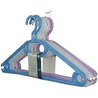 H & L Russel Grucce appendiabiti in plastica con ganci orientabili, set di 10, colori assortiti, 41 cm