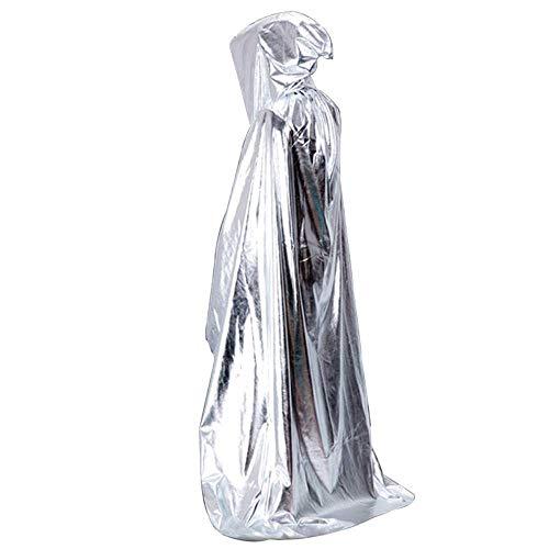 YaPin Halloween Kinderbekleidung COS Vampir Wizard Wischt Männer Tod Cloak Female Adult Cloak Tail (Color : Silver) (Halloween Monster Liste)