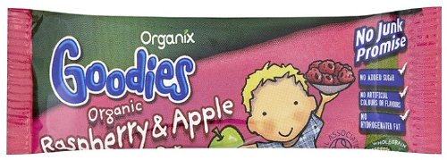 Organix Goodies Organic Raspberry and Apple Bar 30 g (Pack of 50)
