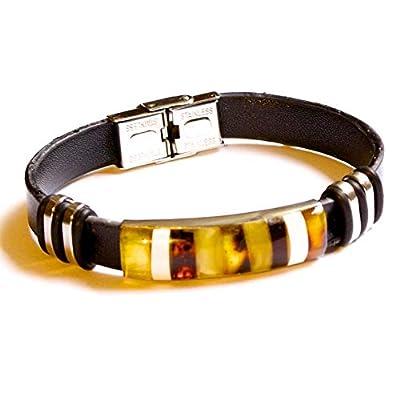 Bracelet en mosaïque d'ambre pour homme ou femme