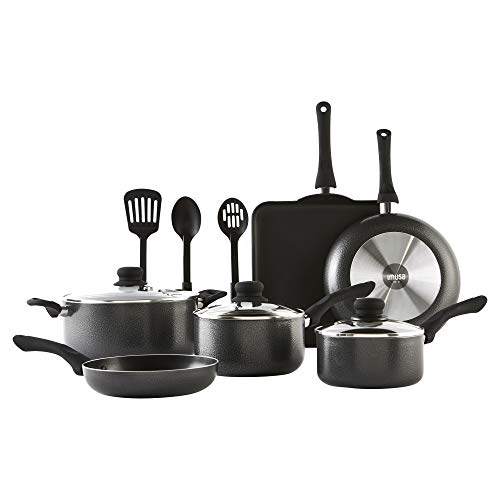 Imusa IMU-25068SET Complete Cookware Set, Charcoal