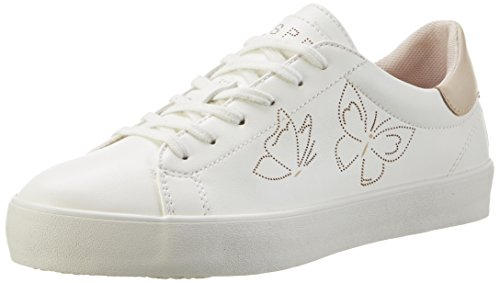 Esprit Mandy, Sneakers Basses Femme Blanc (White 100)