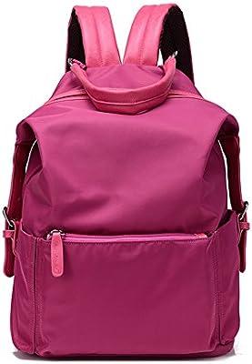 Bolso del ordenador portátil de las señoras/mochila/Bolsas de nylon de doble uso del alumnado/Impermeable pequeña mochila