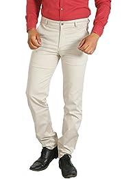 Basilio's SuperFine Cotton Men's Formal: : Semi Casual Trouser - B071RGQQGP
