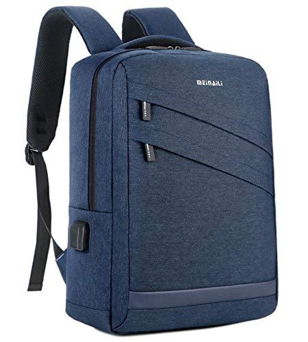 Laptop Rucksack,Wasserdichte Oxford Notebook-Tasche für Notebooks, multifunktionale, wiederaufladbare Studenten-Schultertasche, blau Daypack Schulrucksack Backpack