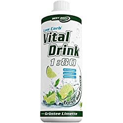 Best Body Nutrition - Low Carb Vital Drink, Grüntee-Limette, 1000 ml Flasche