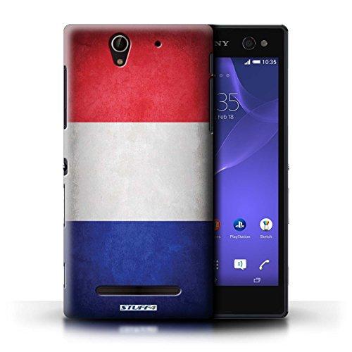 Kobalt® Imprimé Etui / Coque pour Sony Xperia C3 / Portugal/portugais conception / Série Drapeau France/français