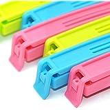 Swab BPA Free Plastic Food Snack Bag Pouch Clip Sealer (Pack Of 12) For Keeping Food Fresh