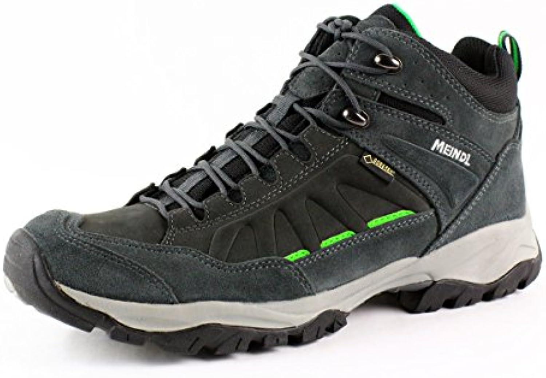 Meindl zapatos de senderismo para hombre zapatillas de senderismo NEBRASKA MID GTX Antracita anthrazit / grün