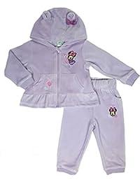 Disney Minnie Maus Samt Jogginganzug rosa oder lila Gr. 68,74,80,86