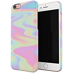 Holographic Print Tie Dye Rainbow Colorful Pastel Rad Indie Boho Tumblr Hard Thin Plastic Phone Case Cover For iPhone 6 & iPhone 6s