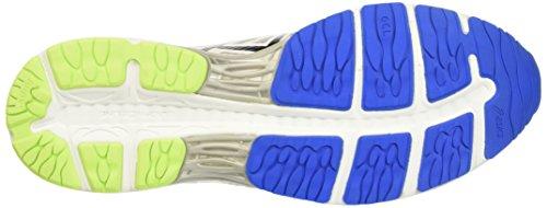 Asics Gel-Cumulus 18, Chaussures de Tennis Homme Blanc Cassé (White/black/electric Blue)