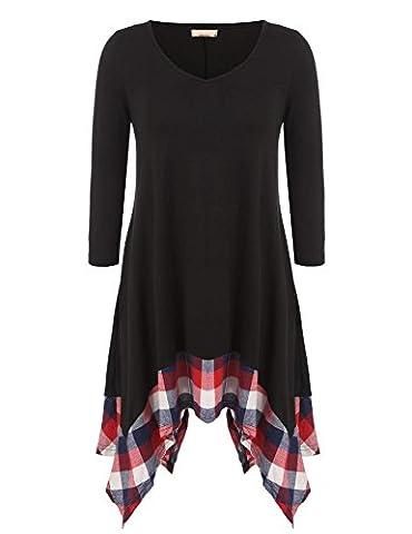 Damen Warm Strickkleid Minikleid Sweatkleid Langarm Rollkragen Pullover Tops Herbst Winter