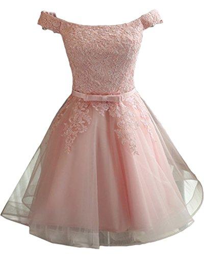 ivyd ressing robe populaire à partir de la épaules Motif dentelle Prom Party robe robe du soir Rose