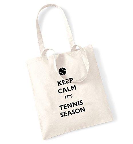 Keep calm it's stagione-Borsa da Tennis natur
