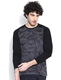 Cult Fiction Comfort Fit Full Sleeves Charcoal T-shirt For Men