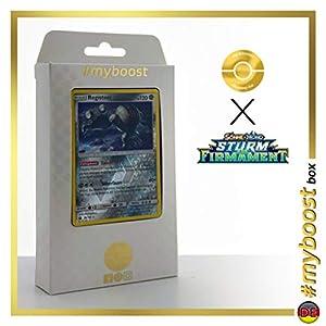 Registeel 96/168 Holo Reverse - #myboost X Sonne & Mond 7 Sturm Am Firmament - Box de 10 Cartas Pokémon Alemán