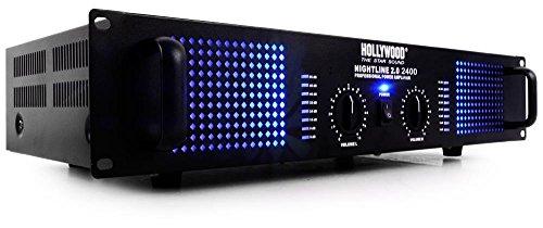 PA-Endstufe Musikanlage 2400 Watt DJ Verstärker Musik-Equipment Nightline 2.0 2400 schwarz
