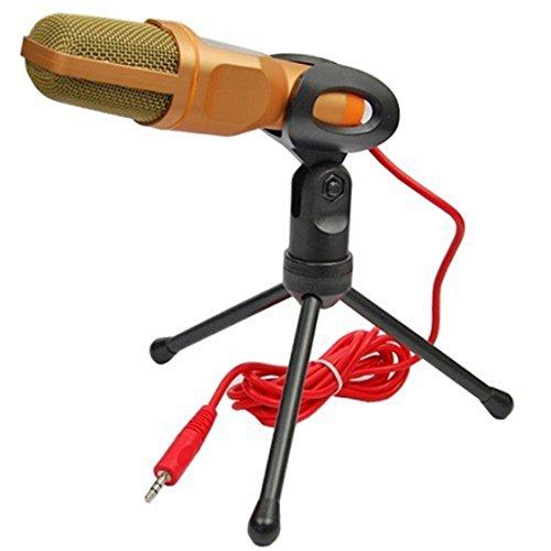 ZUMURCH® Professionale Microfono a condensatore cardioide con supporto Mic Sound Studio Recording per PC Laptop Computer, oro - 4 Condensatore Cardioide