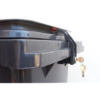 Mülltonnenverriegelung, 60 - 240 Liter für Griffleistendeckel, verschiedenschließend
