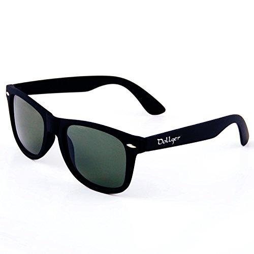 311571ff65 Dollger Classic Gafas de sol Polarizadas y Wayfarer y Cuerno Rimmed  Estructura Lente Espejo (ente