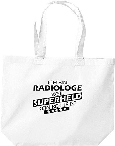 grande borsa della spesa, SONO radiologe, WEIL supereroe NESSUN lavoro è Bianco